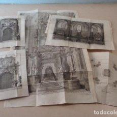 Arte: 5 GRABADOS TRAMULLAS - PALMOS DE CATALUÑA - AÑO 1761. Lote 71169065