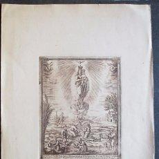 Arte: NUESTRA SEÑORA DE LA FUENTE DE LA SALUD. IGNACIO VALLS, GRABÓ, EN EL SIGLO XVIII.. Lote 71186625