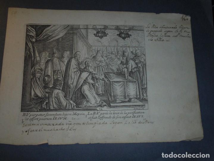 ANTIGUO GRABADO S. XVIII - IOLLAIN EX. - 25X17,5 CM. (Arte - Arte Religioso - Grabados)