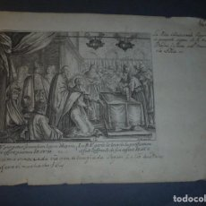 Arte: ANTIGUO GRABADO S. XVIII - IOLLAIN EX. - 25X17,5 CM. . Lote 71535059