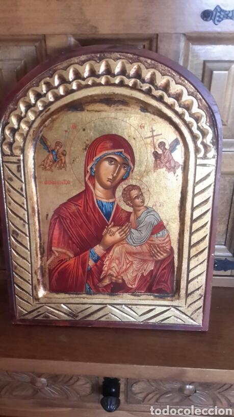 ICONO PINTADO A MANO (Arte - Arte Religioso - Pintura Religiosa - Oleo)