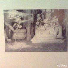 Arte: LITOGRAFÍA DEL PINTOR JOSÉ SEGRELLES, TITULADO LA DANZA MACABRA. PERFECTO ESTADO.. Lote 101766447