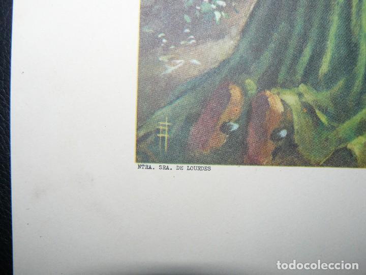 Arte: 4 LÁMINAS - VIRGEN DE LOURDES – VIRGEN Y EL NIÑO – SAGRADA FAMILIA – SAN PANCRACIO - ATRIB FERRANDIZ - Foto 5 - 71758923