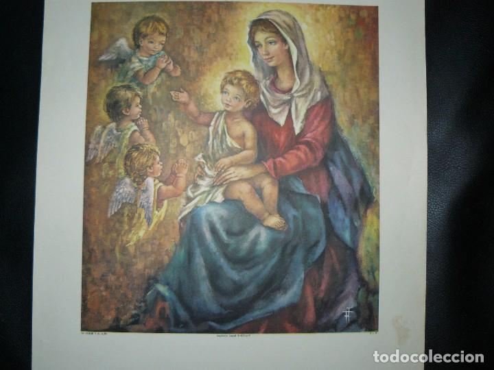 Arte: 4 LÁMINAS - VIRGEN DE LOURDES – VIRGEN Y EL NIÑO – SAGRADA FAMILIA – SAN PANCRACIO - ATRIB FERRANDIZ - Foto 9 - 71758923