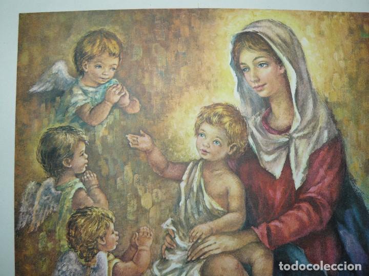 Arte: 4 LÁMINAS - VIRGEN DE LOURDES – VIRGEN Y EL NIÑO – SAGRADA FAMILIA – SAN PANCRACIO - ATRIB FERRANDIZ - Foto 10 - 71758923