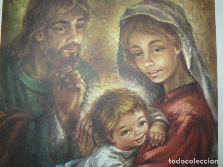 Arte: 4 LÁMINAS - VIRGEN DE LOURDES – VIRGEN Y EL NIÑO – SAGRADA FAMILIA – SAN PANCRACIO - ATRIB FERRANDIZ - Foto 17 - 71758923