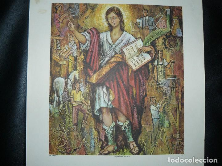 Arte: 4 LÁMINAS - VIRGEN DE LOURDES – VIRGEN Y EL NIÑO – SAGRADA FAMILIA – SAN PANCRACIO - ATRIB FERRANDIZ - Foto 22 - 71758923