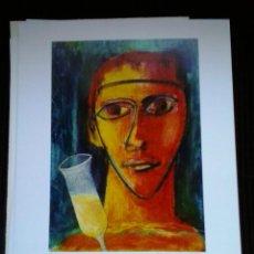Arte: CARPETA CON 9 LITOGRAFIAS PACO INGERTO GERAD MARTI XAVI MARTI. Lote 71841307