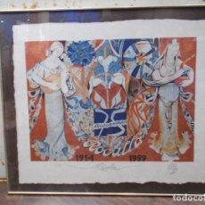 Arte: JORDI ALUMÁ LITOGRAFIA NUMERADA CON MOTIVO DEL 75 ANIVERSARIO DE ROCALLA 1914-1989 68 X 57 CMS (SR). Lote 72137827