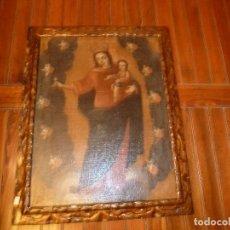 Arte: OLEO SOBRE LIENZO VIRGEN CON NIÑO. Lote 72207499