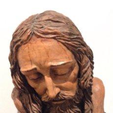 Arte: BUSTO DE CRISTO EN BARRO COCIDO A TAMAÑO NATURAL. Lote 72228314