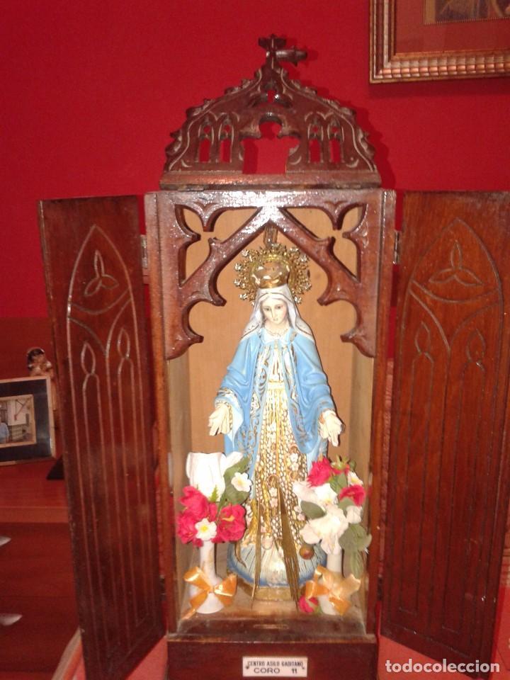 LIMOSNERO OLOT VIRGEN MILAGROSA CALIDAD EXTRA. (Arte - Arte Religioso - Escultura)
