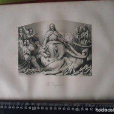 Arte: 31X24 CM - GENESIS - GRABADO RELIGIOSO ORIGINAL SIGLO XIX - CRISTO CONFORTADOR . Lote 72289203