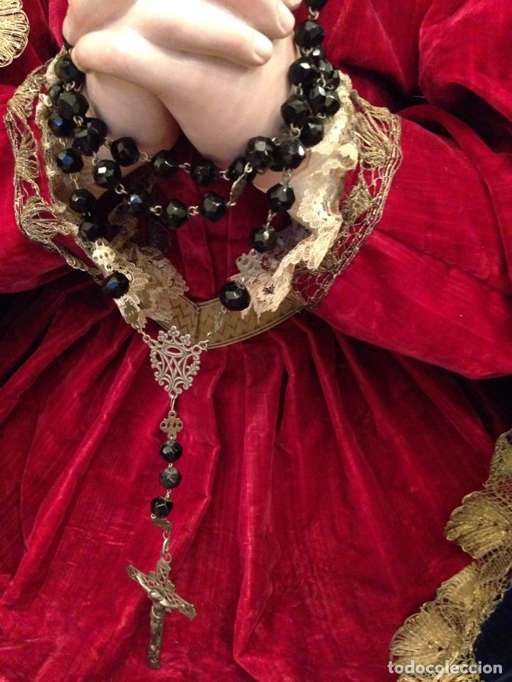 Arte: Virgen dolorosa del siglo XVIII, talla de madera, con urna-capilla - Foto 6 - 72739185