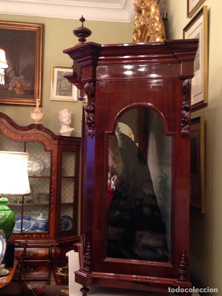Arte: Virgen dolorosa del siglo XVIII, talla de madera, con urna-capilla - Foto 7 - 72739185