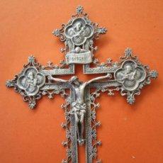 Arte: ANTIGUO CRUCIFIJO DE PLATA PUNZONADA, LOS 4 APOSTOLES PLATA 925. Lote 72912967