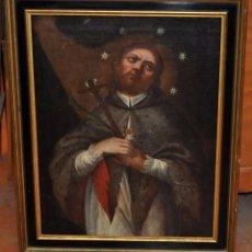 Arte: ESCUELA ESPAÑOLA DEL SIGLO XVIII. OLEO SOBRE TELA. SAN JUAN NEPOMUCENO. Lote 86636667