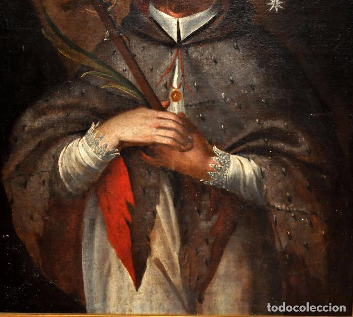 Arte: ESCUELA ESPAÑOLA DEL SIGLO XVIII. OLEO SOBRE TELA. SAN JUAN NEPOMUCENO - Foto 4 - 86636667