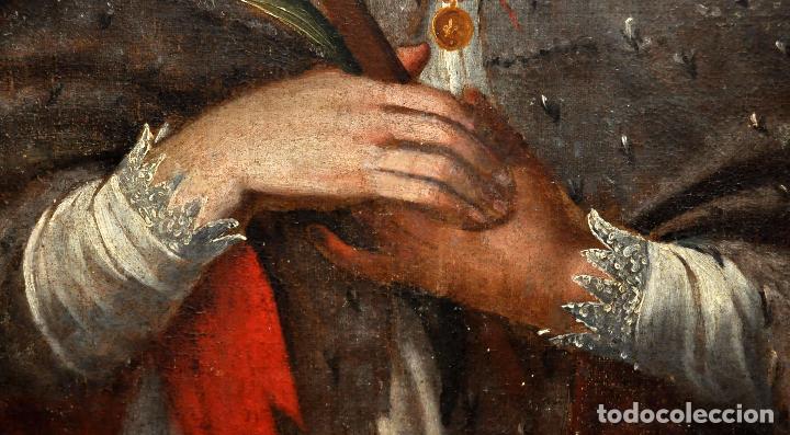 Arte: ESCUELA ESPAÑOLA DEL SIGLO XVIII. OLEO SOBRE TELA. SAN JUAN NEPOMUCENO - Foto 5 - 86636667
