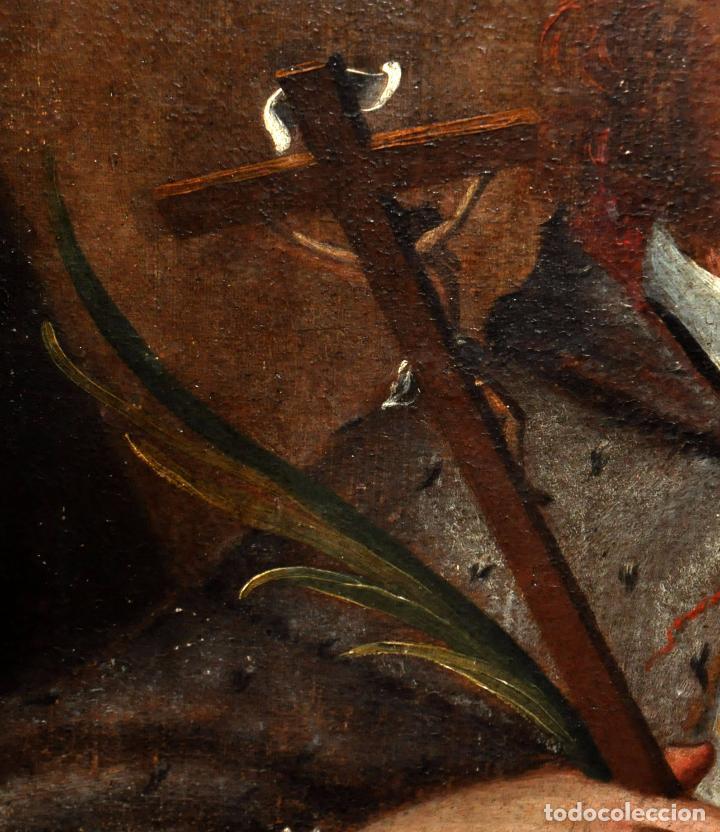 Arte: ESCUELA ESPAÑOLA DEL SIGLO XVIII. OLEO SOBRE TELA. SAN JUAN NEPOMUCENO - Foto 6 - 86636667