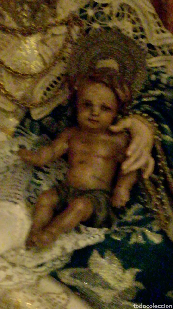 Arte: EXCELENTE TALLA MADERA ANGEL O NIÑO JESUS s.XVIII ORIGINAL - Foto 11 - 73309269