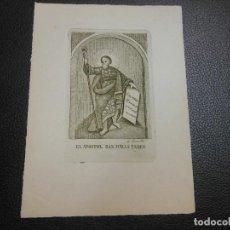 Arte: GRABADO ESTAMPA RELIGIOSA ANTIGUA EL APOSTOL SAN JUDAS TADEO POR JOSE GRILLO GRILO SIGLO XIX CADIZ. Lote 73812833