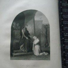 Arte: 31X24 CM - GENESIS - GRABADO RELIGIOSO ORIGINAL SIGLO XIX - ESTHER BEFORE AHASUERUS - ROGER´S. Lote 73863127