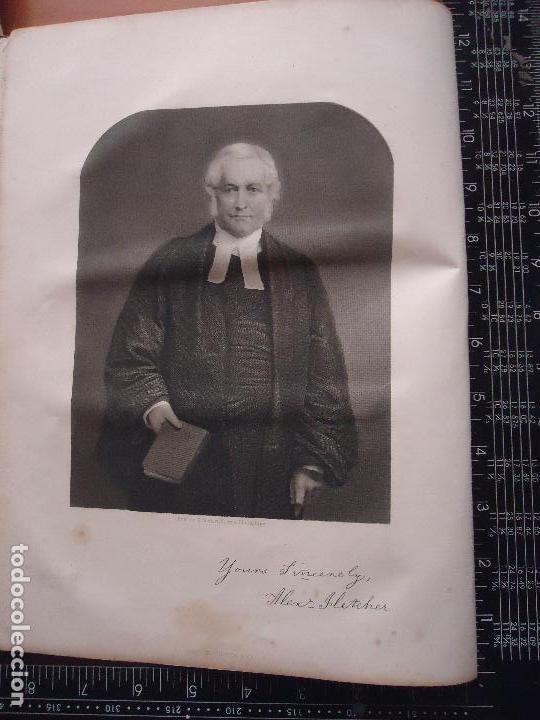 31X24 CM - GENESIS - GRABADO RELIGIOSO ORIGINAL SIGLO XIX - ALEXANDER FLETCHER (Arte - Arte Religioso - Grabados)
