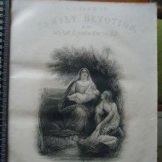 Arte: 31X24 CM - GENESIS - GRABADO RELIGIOSO ORIGINAL SIGLO XIX - ENCUENTRO DE MOISES EN EL RIO , . Lote 73865603
