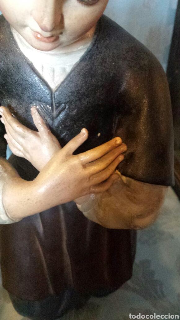 Arte: Figura orante talla madera - Foto 2 - 73940533