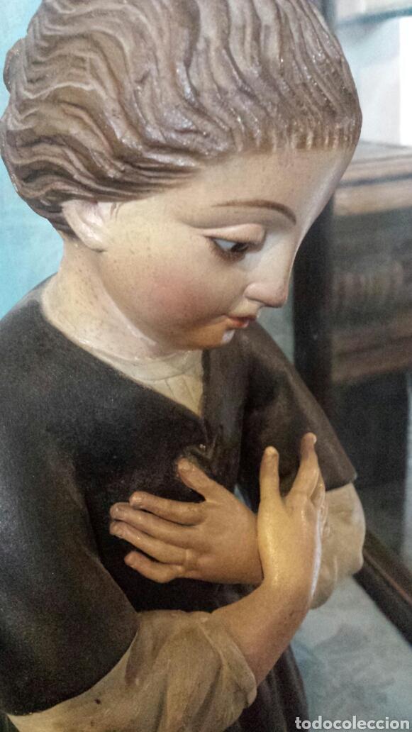 Arte: Figura orante talla madera - Foto 4 - 73940533