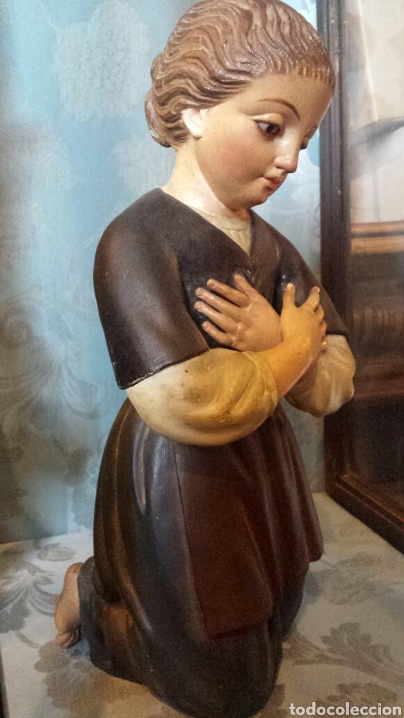 Arte: Figura orante talla madera - Foto 5 - 73940533