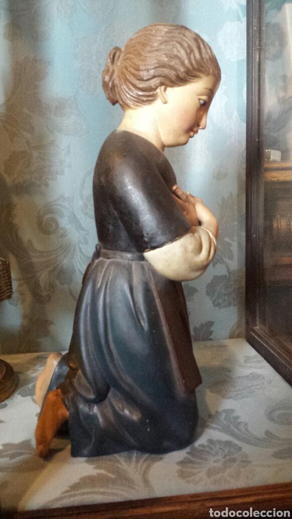 Arte: Figura orante talla madera - Foto 7 - 73940533