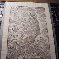 Arte: ANTIGUO GRABADO SAN JOSEPH - MANRESA . POR PABLO ROCA . 31X20,5 CM. S.XIX . Lote 73998567