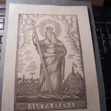 Arte: ANTIGUO GRABADO SANTA ELENA - MANRESA . POR PABLO ROCA . 31X20,5 CM. S.XIX . Lote 73998883
