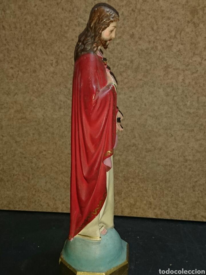 SAGRADO CORAZÓN DE OLOT MUY RARA (Arte - Arte Religioso - Escultura)