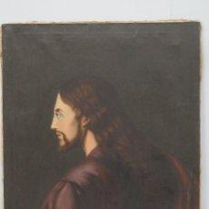 Arte: ANTIGUO Y PRECIOSO OLEO S/ LIENZO. JESUCRISTO. SIGLO XIX. Lote 74157735