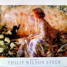 Arte: LAMINA LITOGRAFIA GRANDE DE - PHILIP WILSON STEER -HYDRANGEAS . MUSEO DE CAMBRIDCE.TAMAÑO 65X45 CMS. Lote 74232067