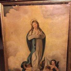 Arte: ELEGANTE INMACULADA CON MARCO ANTIGUO. Lote 74261999