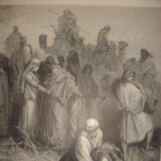 Arte: GRABADO RELIGIOSO, DORÉ-PANNEMAKER-DOMS, BOOZ Y RUTH, ORIGINAL, BARCELONA,1883,GRAN TAMAÑO. Lote 74338235