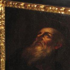 Arte: SANTO ERMITAÑO. SOBERBIA PINTURA AL OLEO DE ESCUELA ESPAÑOLA DEL SIGLO XVII. MARCO ORIGINAL DE ÉPOCA. Lote 74675543
