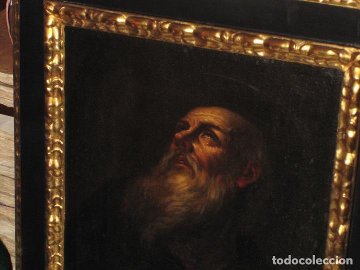 Arte: SANTO ERMITAÑO. SOBERBIA PINTURA AL OLEO DE ESCUELA ESPAÑOLA DEL SIGLO XVII. MARCO ORIGINAL DE ÉPOCA - Foto 3 - 74675543