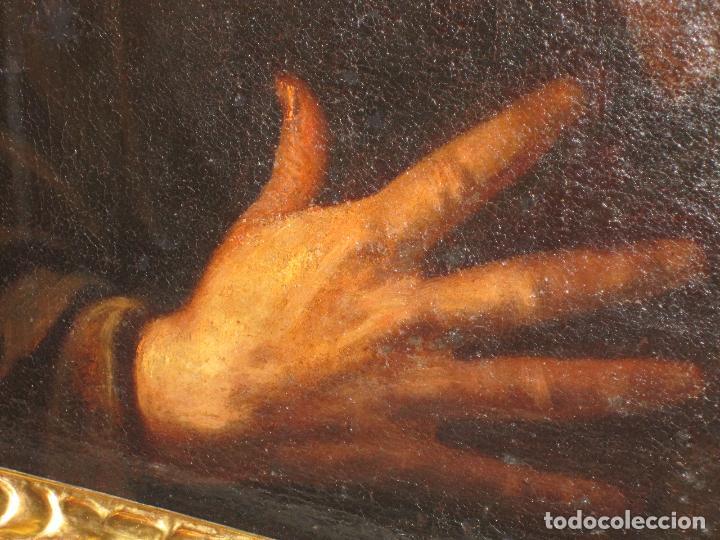 Arte: SANTO ERMITAÑO. SOBERBIA PINTURA AL OLEO DE ESCUELA ESPAÑOLA DEL SIGLO XVII. MARCO ORIGINAL DE ÉPOCA - Foto 4 - 74675543