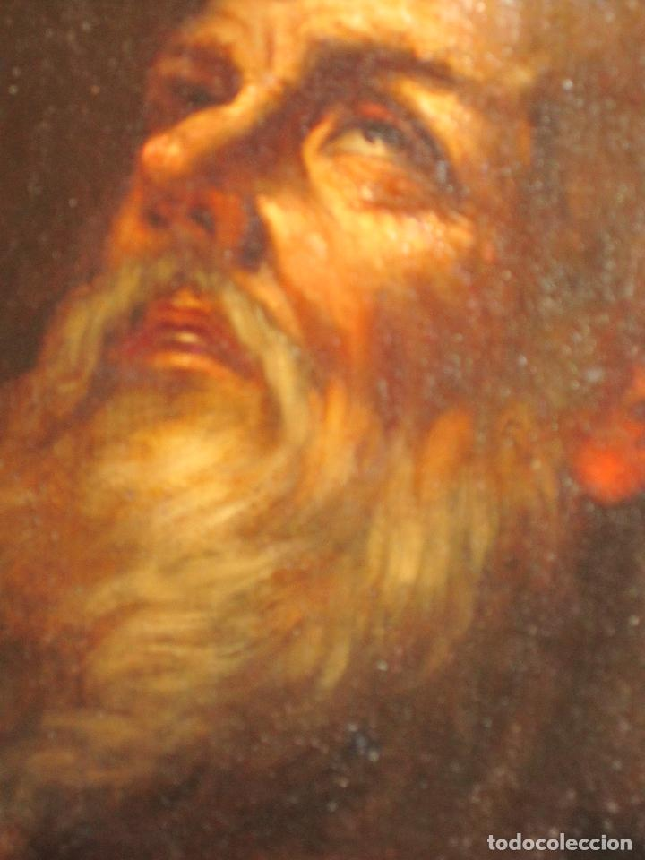 Arte: SANTO ERMITAÑO. SOBERBIA PINTURA AL OLEO DE ESCUELA ESPAÑOLA DEL SIGLO XVII. MARCO ORIGINAL DE ÉPOCA - Foto 5 - 74675543