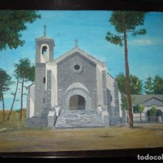 Arte: IGLESIA ANTIGUO OLEO FIRMADO EN 1971 IPERREALISMO. Lote 74876447