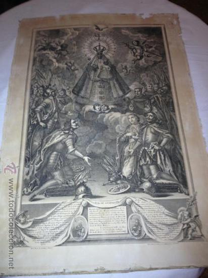 ANTIQUISIMO GRABADO DE NTRA SRA DE GUADALUPE. AÑO 1789. !!!VER FOTOS!!! (Arte - Arte Religioso - Grabados)