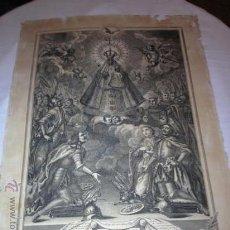 Arte: ANTIQUISIMO GRABADO DE NTRA SRA DE GUADALUPE. AÑO 1789. !!!VER FOTOS!!!. Lote 37594116
