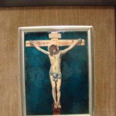 Arte: CUADRO DE CRISTO EN ESMALTE AL FUEGO. Lote 75058035