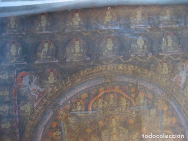 HULE DE MEDITACIÓN BUDISTA. (Arte - Arte Religioso - Pintura Religiosa - Otros)