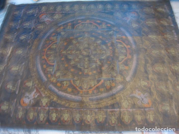 Arte: Hule de meditación budista. - Foto 2 - 75127567